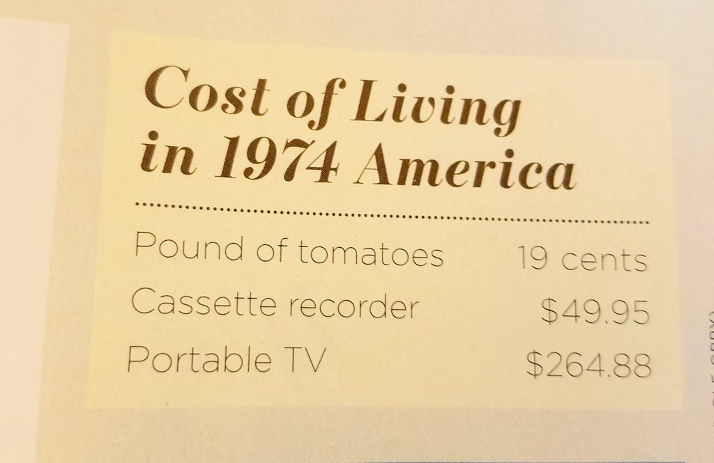 cost of iving in 1974