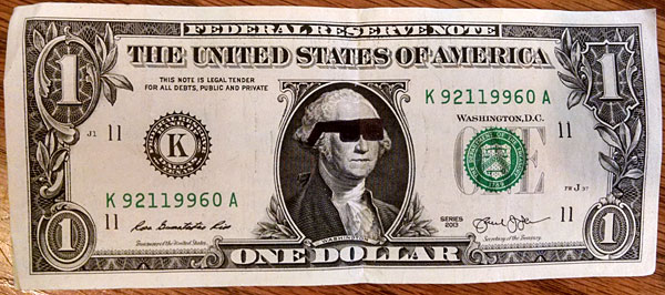 dollar bill sunglasses