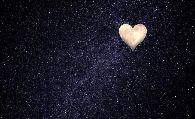 heart moon & stars